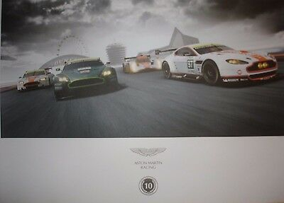 Le Mans 2014 Aston Martin Racing 10 Year Anniversary Commemorative Quality Card