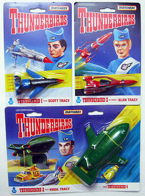 1992 Matchbox Gerry Anderson Thunderbirds 1 2 3 & 4 Vehicles Die Cast Sealed