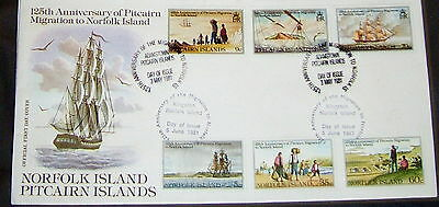 PITCAIRN MIGRATION to NORFOLK ISLANDS FIRST DAY COVER, 1981 125th ANNIVERSARY VV