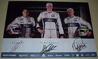 Le Mans - FIA WEC 2017 Silverstone GTE Pro Class Winners Ford GT #67 Signed Card
