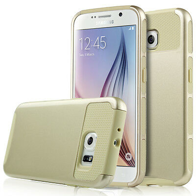 For Samsung Galaxy S6 Slim Hybrid Shockproof Hard Rugged Case Cover Skin Gold