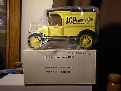JC Penney Dept Stores  1913 Ford Model T Delivery Van Diecast ERTL Truck  Bank