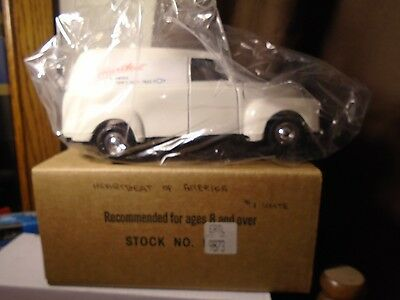 Heartbeat Of America 1950 Chevy Panel Diecast Truck Bank Ertl  Stock# 9873 White
