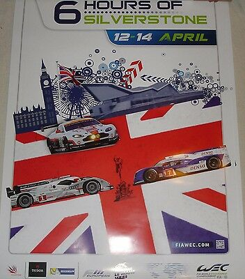 Le Mans WEC 2013 Silverstone Tourist Trophy Large Official Poster Audi Toyota