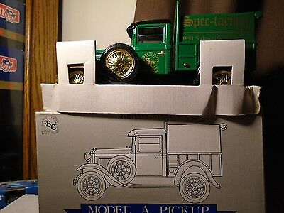 Spectacular News Ford Model A PickUp  Diecast Truck Bank Ertl  Stock# 1005