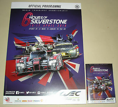 Le Mans WEC 6 Hours Of Silverstone 2016 Programme Fold Out Mini Guide/Poster New