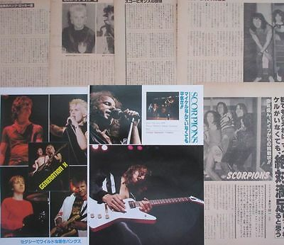 GENERATION X in JAPAN BILLY IDOL SCORPIONS 1979 CLIPPING JAPAN G2 U13 11PAGE