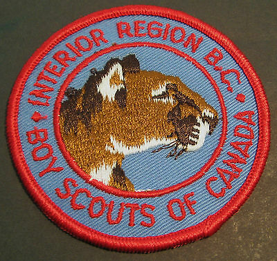 Boy Scouts Canada B.c. Interior Region Cougar Embroidered Patch New Large