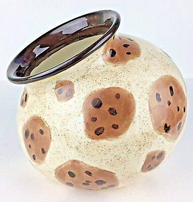 "Cookie Jar Hand Painted Signed Chocolate Chip ""Oh Oh""  Inside Open Top MI278"