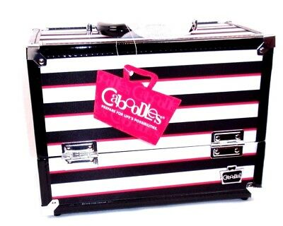 Caboodles Inspired Travel Train Case Makeup Cosmetics Organizer Storage Box NEW