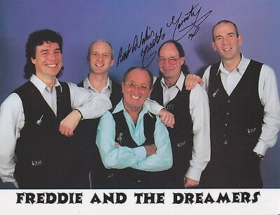 Freddie Garrity HAND Signed Photocard, Autograph, Freddie And The Dreamers