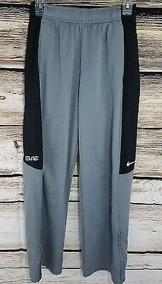 NIKE Boys Dri Fit Elite Basketball Shorts Size XL Gray Black Athletic EXCELLENT