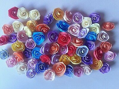 Quilling Quilled Paper Mixed lot of 60 Handmade Roses Scrapbooking & Card Making