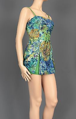 Size Small Authentic 1950's Vintage Swimsuit Bubble Panties Pin-Up Romper