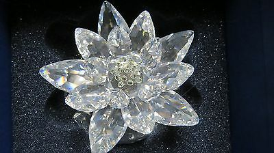 SWAROVSKI Large Waterlily 0838178 on Lily Pad A9100 NR000029 New in Box