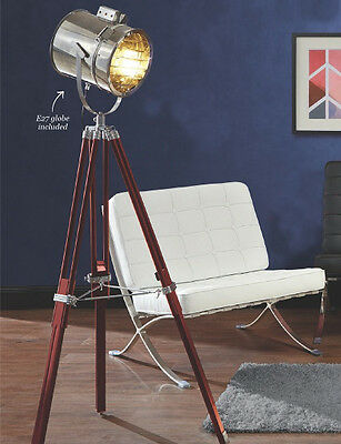 Lamp floor standing with tripod Nautical style