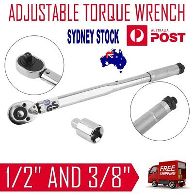 """Dual Drive 3/8"""" and 1/2"""" Micrometer Torque Torq Ratchet Wrench in Moulded Case"""