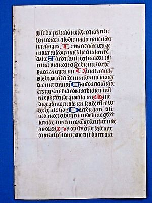 Very rare Medieval Manuscript Lf.in the Vernacular,BoH,Vellum,deco.Init.c.1475