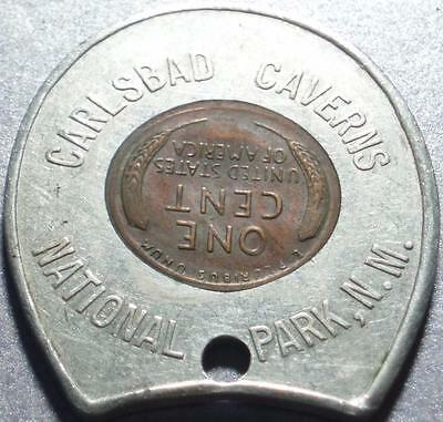 New Mexico CARLSBAD CAVERNS NATIONAL PARK 1953-D ENCASED Lincoln WHEAT BACK Cent