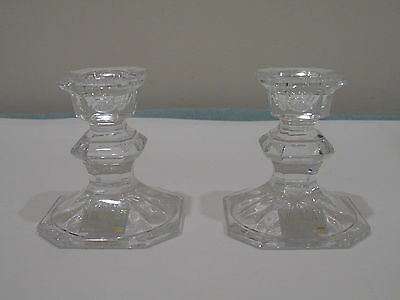 Elegant Crystal Mikasa Pair Of Candleholders New Without Box