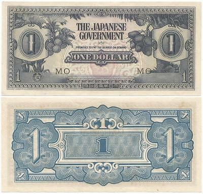 1942 BRITISH MALAYA World War II Relic NICE $1 NOTE Japanese OCCUPATION CURRENCY