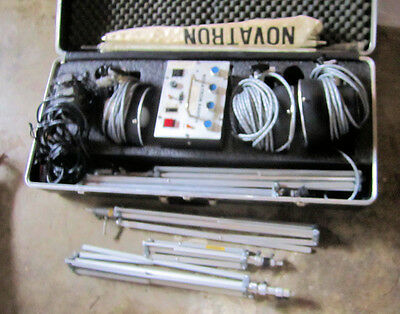 Novatron 440 Plus with 3 2010 lights, 5 stands, shades, Case, etc