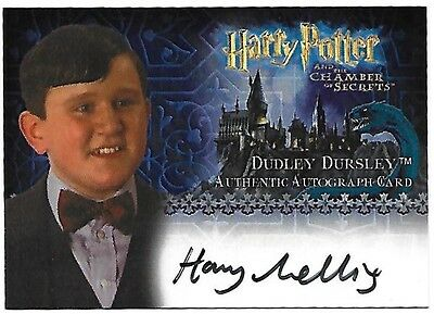 Harry Potter and the Chamber of Secrets Autograph Card Harry Melling Dudley Auto