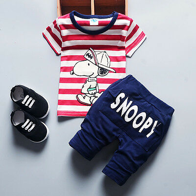 Kids Baby Boy Clothes Clothing Outfits Sets Suits Boys Outfit T-Shirt + Shorts