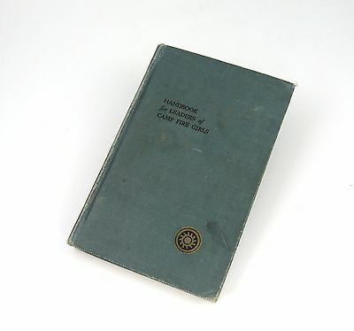 1924 Handbook for Leaders of Camp Fire Girls First Printing Hardcover 192 Pages