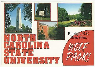 North Carolina St University College Postcard Multiview Raleigh NC School
