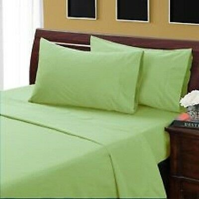 1000 Thread Count 100% Egyptian Cotton King Size Sage Solid Bed Sheet Set
