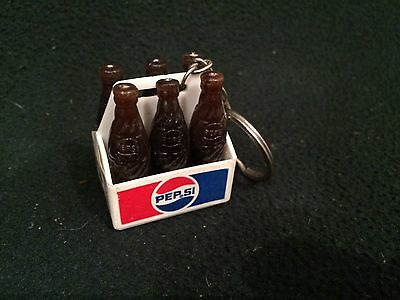 Vintage Pepsi 6 Pack Bottle Key Chain