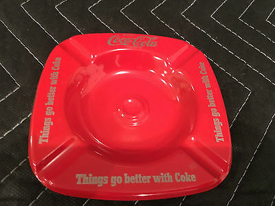 Vintage 1950's Drink Coca Cola -Things go better with coke Ashtray NEW OLD STOCK