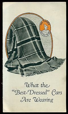 """1928 MacCarden Car Robes """"What the Best-Dressed Cars Are Wearing"""" Brochure"""