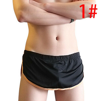 Men's Boxer Briefs Shorts Underwear Underpants 2-Piece Style Bulge Pouch Thongs