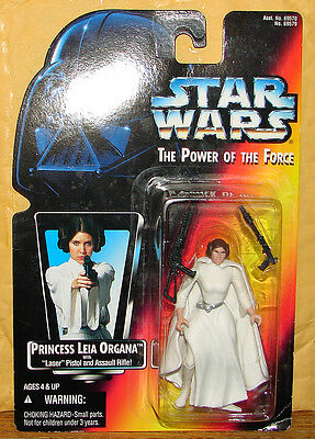 1995 Star Wars Princess Leia Organa w/Laser Pistol & Assault Rifle TPOTF2 Red