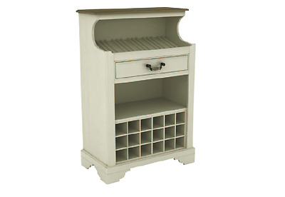 NEW Wine Rack Table with Drawer- 2 tone