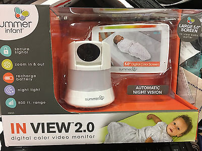 Summer Infant In View 2.0 Video Baby Monitor 29650 Brand New!!!