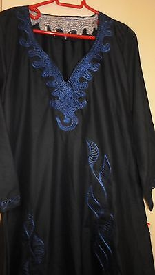 Women's Long Kaftan  dress African style with embroidery