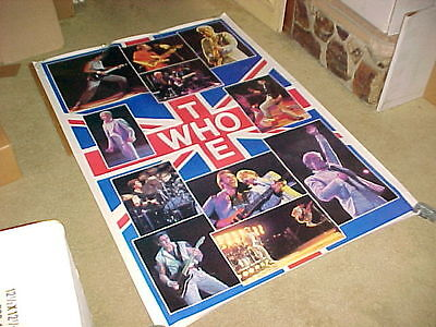 THE WHO POSTER #2 HUGE 40x58 COLLAGE TYPE 1983 BI-RITE/STAR RIGHTS SCARCE