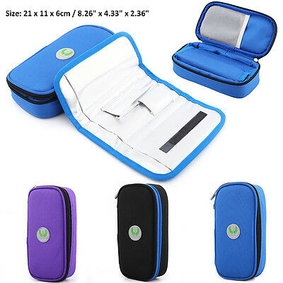 Portable Diabetic Insulin Ice Pack Cooler Bags Case Supply Punch Bag Injector BD