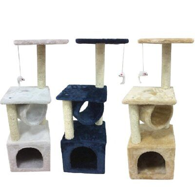 Cats Kitten Tree With Scratching Post Play Condo House Bed Tower Hammock Perch