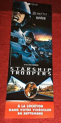 Original French STARSHIP TROOPERS VIDEO RELEASE DOOR WINDOW MOVIE POSTER SCI-FI