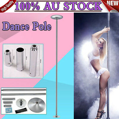 PROPS PORTABLE EXERCISE SPINNING HOME GYM DANCING POLE FITNESS w/ 2x EXTENSIONS