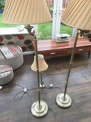 2 Floor And 1 Table Lamp In Good Condition
