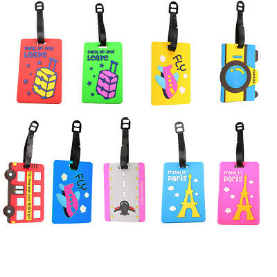 Cute Luggage Name Bag  Tag Holder Travel Suitcase Baggage Card Personalized