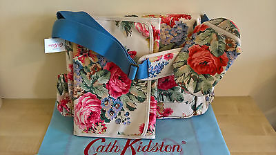 BNWT Cath Kidston Baby Changing Bag with Mat & Bottle Holder - Bloomsbury