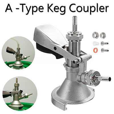 Stainless Steel A-Type Keg Connectors Coupler Homebrew Craft Wine Beer Dispenser