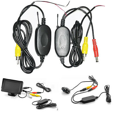 2.4G Wireless Video Transmitter Receiver Kit For Car Monitor Vehicle Rearview UK