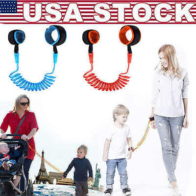 Toddler Baby Kids Anti Lost Wrist Link Traction Rope Safety Harness Leash F Kids